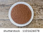 top view of a crunchy chocolate ... | Shutterstock . vector #1101626078