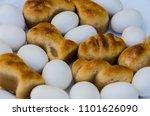 mazapan and peladillas in a... | Shutterstock . vector #1101626090