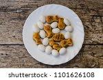 peladillas and mazapan in a... | Shutterstock . vector #1101626108
