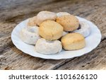 mantecados  polvorones and... | Shutterstock . vector #1101626120