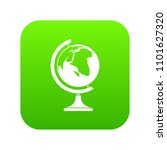 globe icon digital green for... | Shutterstock .eps vector #1101627320