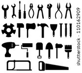 tools icon set in black | Shutterstock .eps vector #110162909