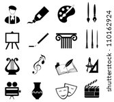 arts icon set in black | Shutterstock .eps vector #110162924