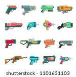 cartoon gun vector toy blaster... | Shutterstock .eps vector #1101631103