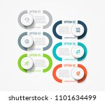vector infographic label design ... | Shutterstock .eps vector #1101634499