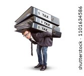 man carrying a giant stack of...   Shutterstock . vector #1101634586