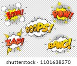 set comic speach bubble with... | Shutterstock .eps vector #1101638270