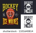 t shirt print with hockey... | Shutterstock .eps vector #1101640814