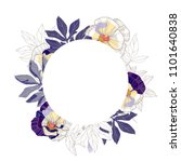 beautiful vintage round floral... | Shutterstock .eps vector #1101640838
