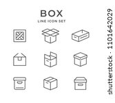 set line icons of box | Shutterstock .eps vector #1101642029