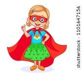 vector cutout girl in super... | Shutterstock .eps vector #1101647156