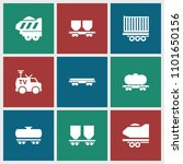 wagon icon. collection of 9... | Shutterstock .eps vector #1101650156