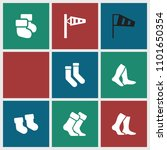 sock icon. collection of 9 sock ... | Shutterstock .eps vector #1101650354