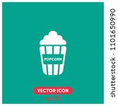 filled popcorn vector icon...