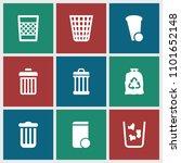 bin icon. collection of 9 bin... | Shutterstock .eps vector #1101652148