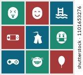 joy icon. collection of 9 joy... | Shutterstock .eps vector #1101653276