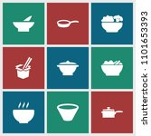 soup icon. collection of 9 soup ... | Shutterstock .eps vector #1101653393