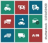 automobile icon. collection of... | Shutterstock .eps vector #1101653420