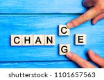 "wooden cube with word ""change""... 