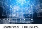 a futuristic 3d rendering of... | Shutterstock . vector #1101658193
