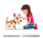 smiling preschool girl kid... | Shutterstock .eps vector #1101658868