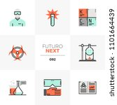 modern flat icons set of... | Shutterstock .eps vector #1101664439