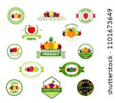 organic farming products vector ... | Shutterstock .eps vector #1101673649