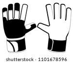 isolated goalkeeper gloves icon | Shutterstock .eps vector #1101678596