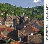 sighisoara old town stock... | Shutterstock . vector #1101681344