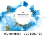 background with blue and gold... | Shutterstock .eps vector #1101681410