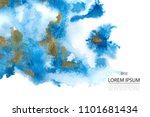 background with blue and gold... | Shutterstock .eps vector #1101681434