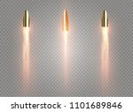 a flying bullet with a fiery... | Shutterstock .eps vector #1101689846