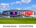 moscow  russia   may 30  2018 ... | Shutterstock . vector #1101692306