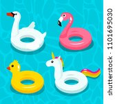a set of colorful inflatable...   Shutterstock .eps vector #1101695030