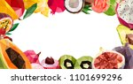 Frame With Tropical Fruits....