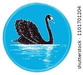 vector swan illustration with...   Shutterstock .eps vector #1101701204