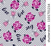 rose pattern with pink flowers... | Shutterstock .eps vector #1101701216