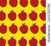 fresh apples fruits pattern... | Shutterstock .eps vector #1101701786