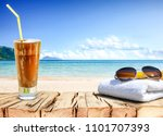 summer photo of free space and... | Shutterstock . vector #1101707393