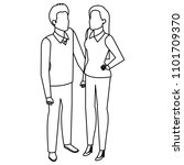 business couple avatars... | Shutterstock .eps vector #1101709370