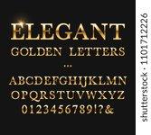 elegant golden letters. shiny... | Shutterstock . vector #1101712226