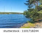 a beautiful forest lake in... | Shutterstock . vector #1101718244