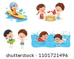 vector illustration of kids... | Shutterstock .eps vector #1101721496