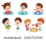vector illustration of kids... | Shutterstock .eps vector #1101721520
