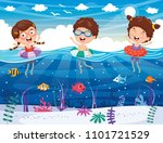 vector illustration of kids... | Shutterstock .eps vector #1101721529