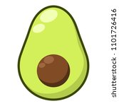 avocado illustration   avocado... | Shutterstock .eps vector #1101726416