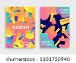 covers with geometric pattern.... | Shutterstock . vector #1101730940