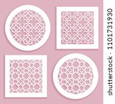 templates for laser cutting ... | Shutterstock .eps vector #1101731930