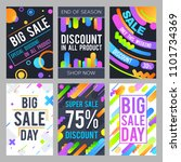 modern sale banners in material ... | Shutterstock . vector #1101734369