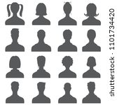 anonymous face people heads... | Shutterstock . vector #1101734420